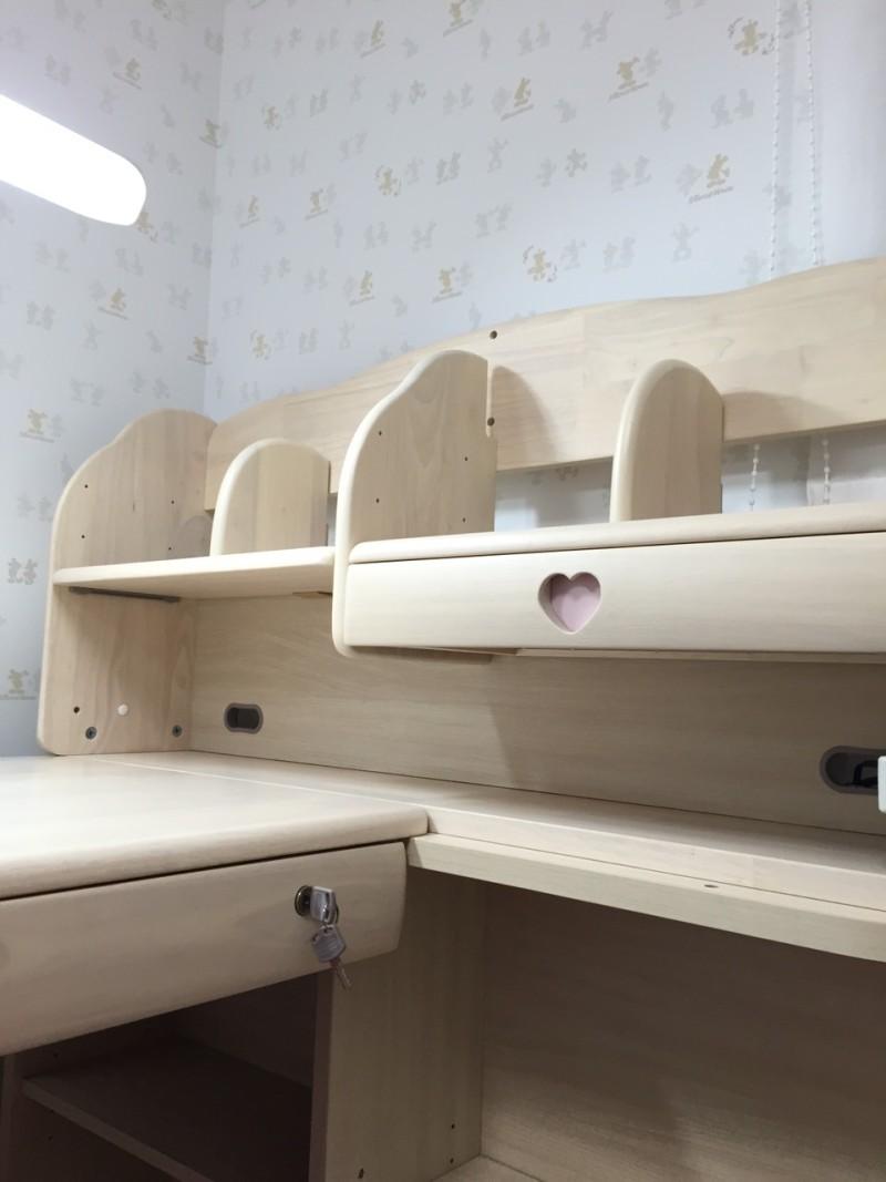 100幅中棚の学習机