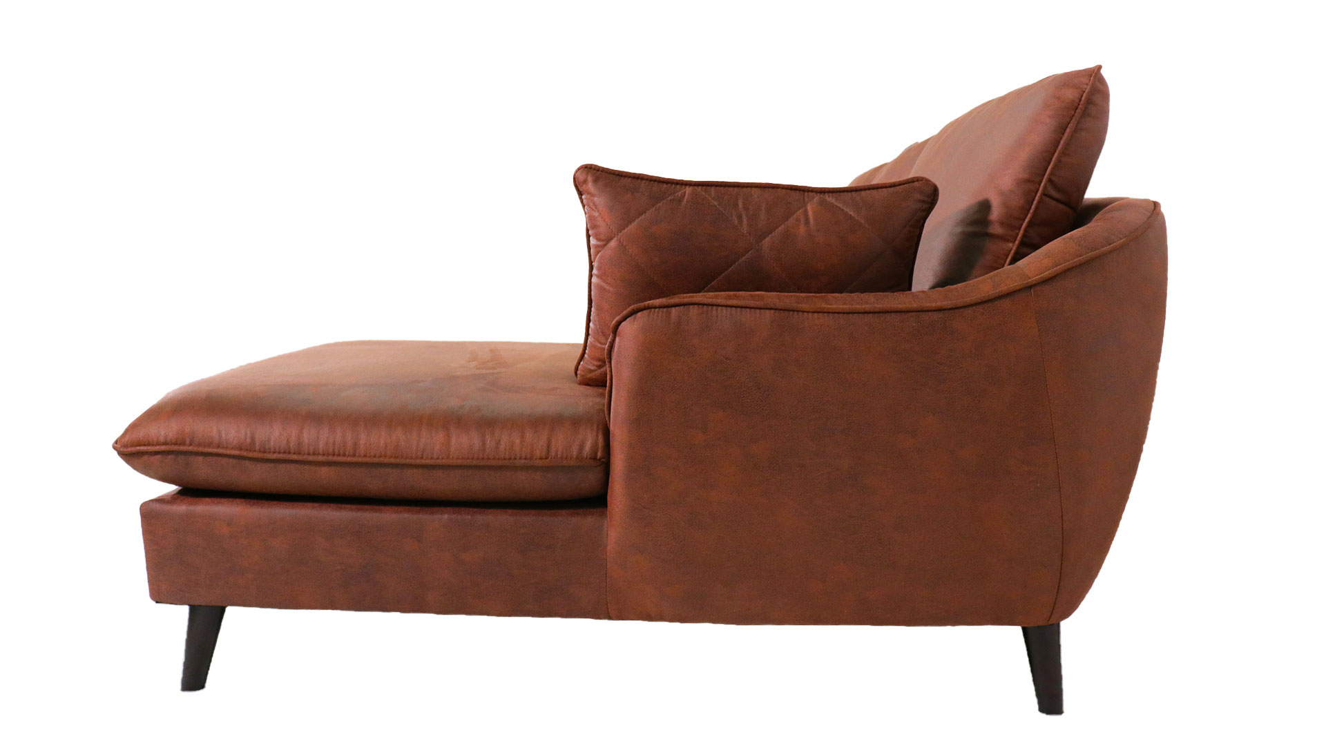 ゆったりと座れるask-inのカウチソファ「モラレス」の全体を横からから撮った画像