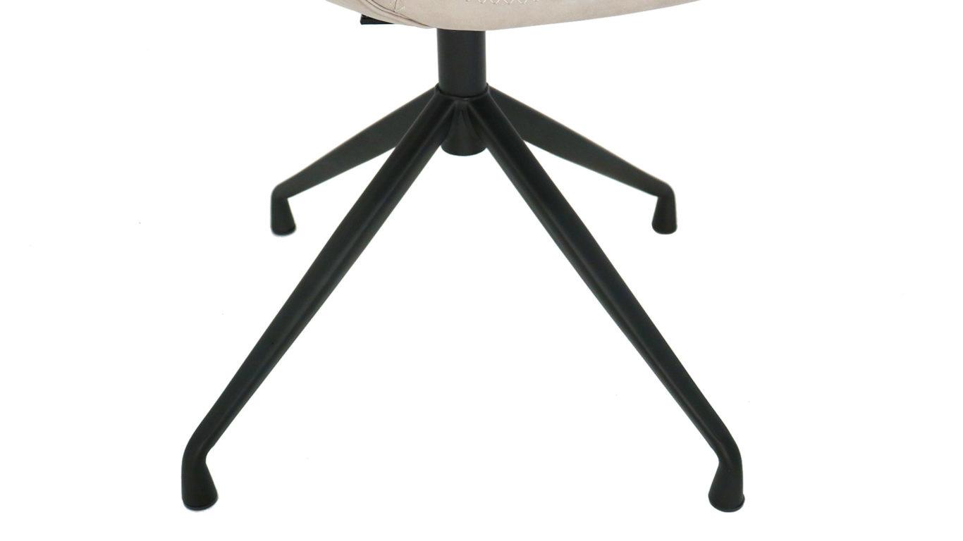 東馬の360度回転チェア、フローラの座面の脚の画像