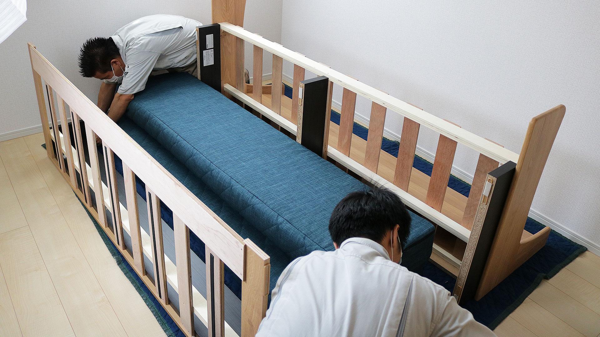 ごろ寝ソファードロシーを2階に設置