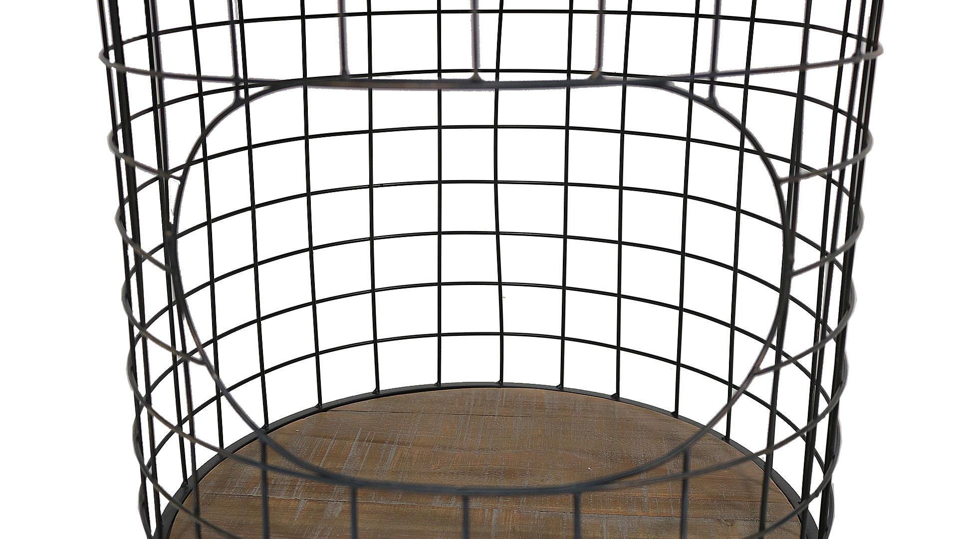 ヴィンテージのアイアンメッシュがおしゃれなランドリーバスケット