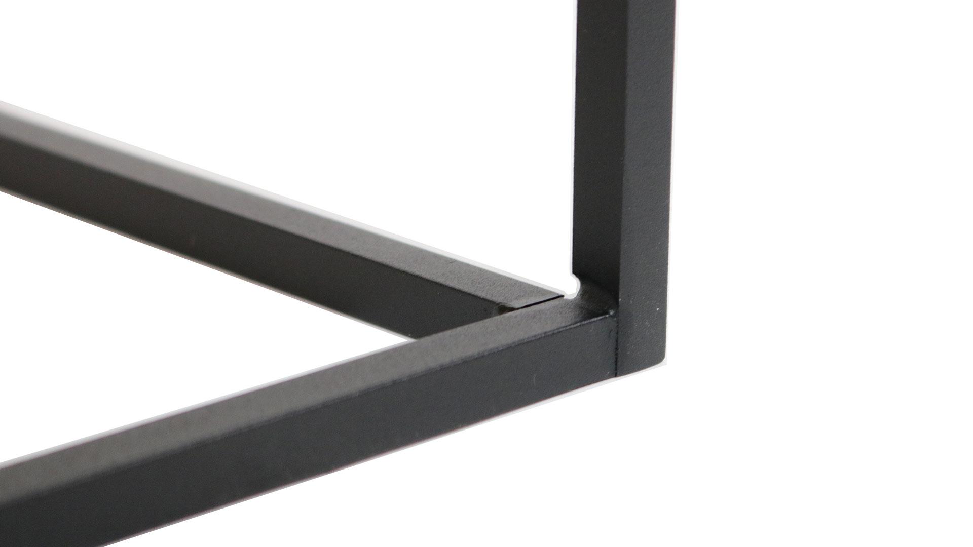 サイドテーブルのブラックスチール脚