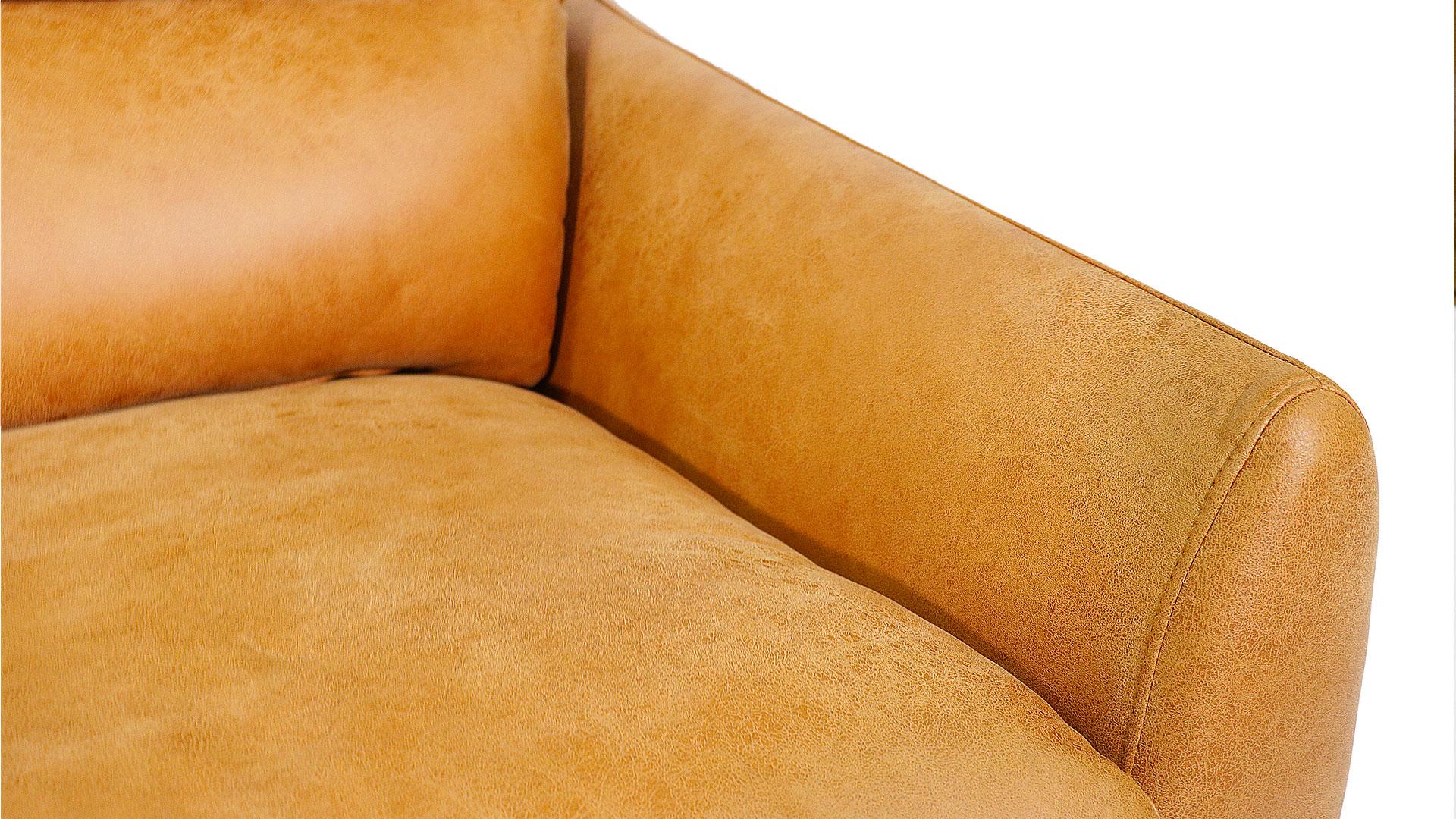 ふんわりハイバックのask-inのソファ「ルーク」の肘をアップで撮影した画像