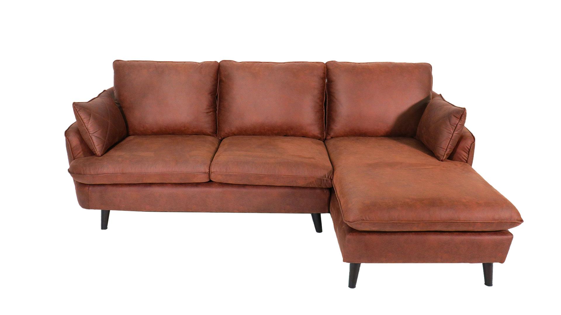 ゆったりと座れるask-inのカウチソファ「モラレス」の全体を正面から撮った画像