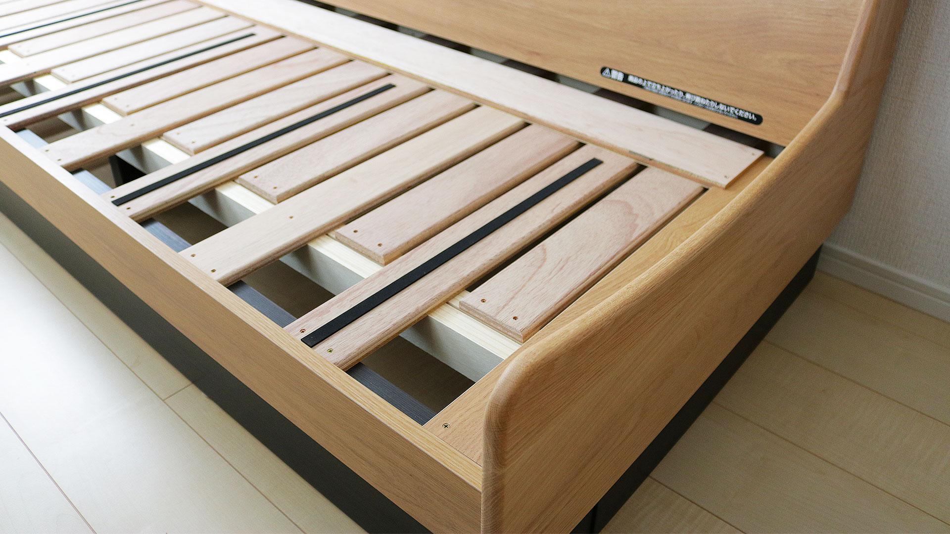 ごろ寝ソファーの木製フレームのアップ画像