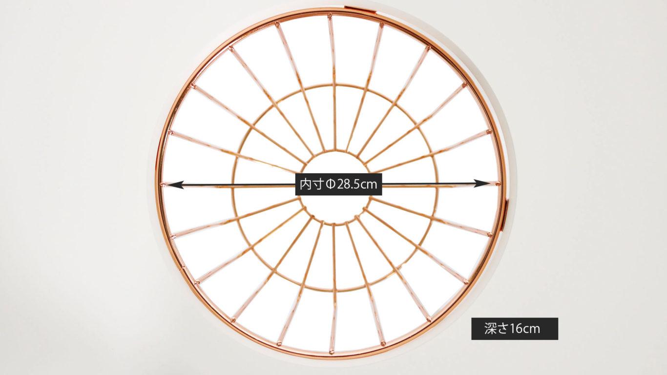 丸形テーブルのブトンのプランター置きのサイズ