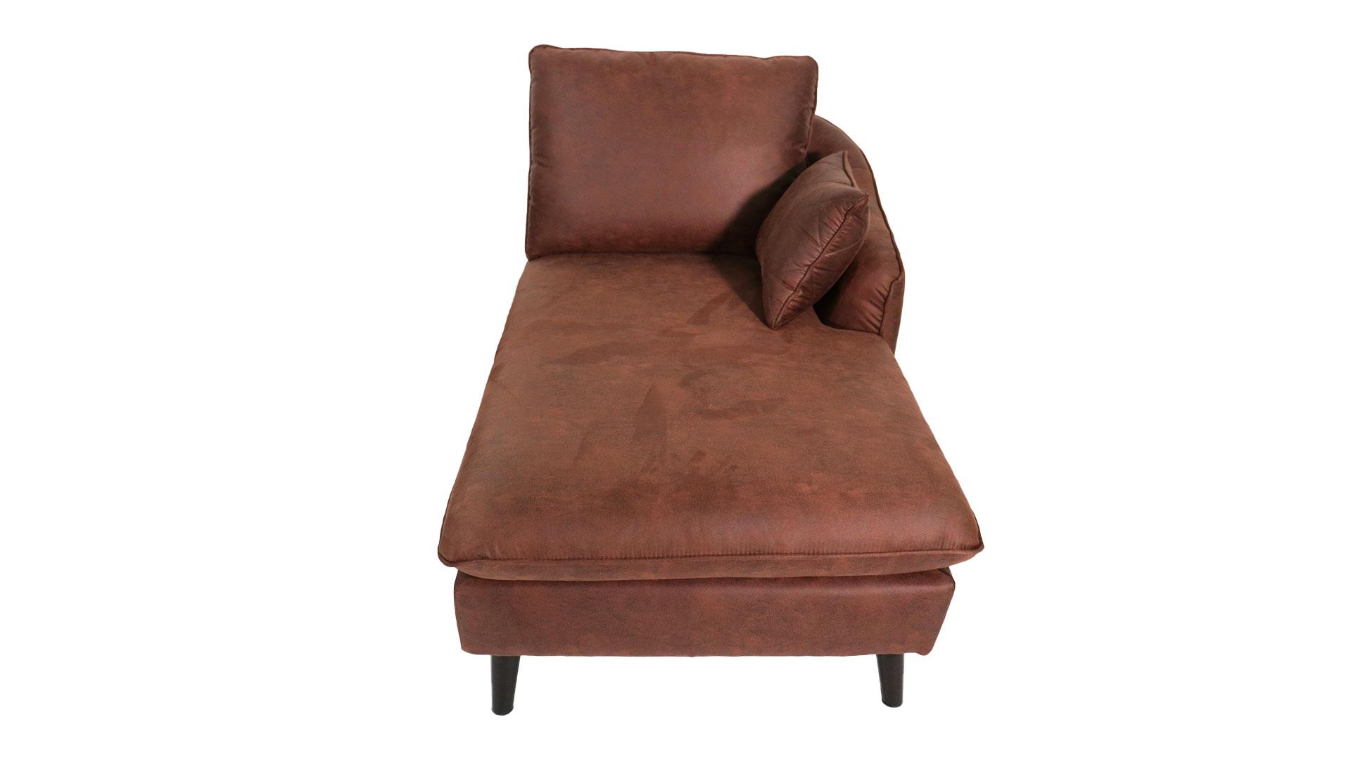 ゆったりと座れるask-inのカウチソファ「モラレス」の左肘カウチの正面の画像