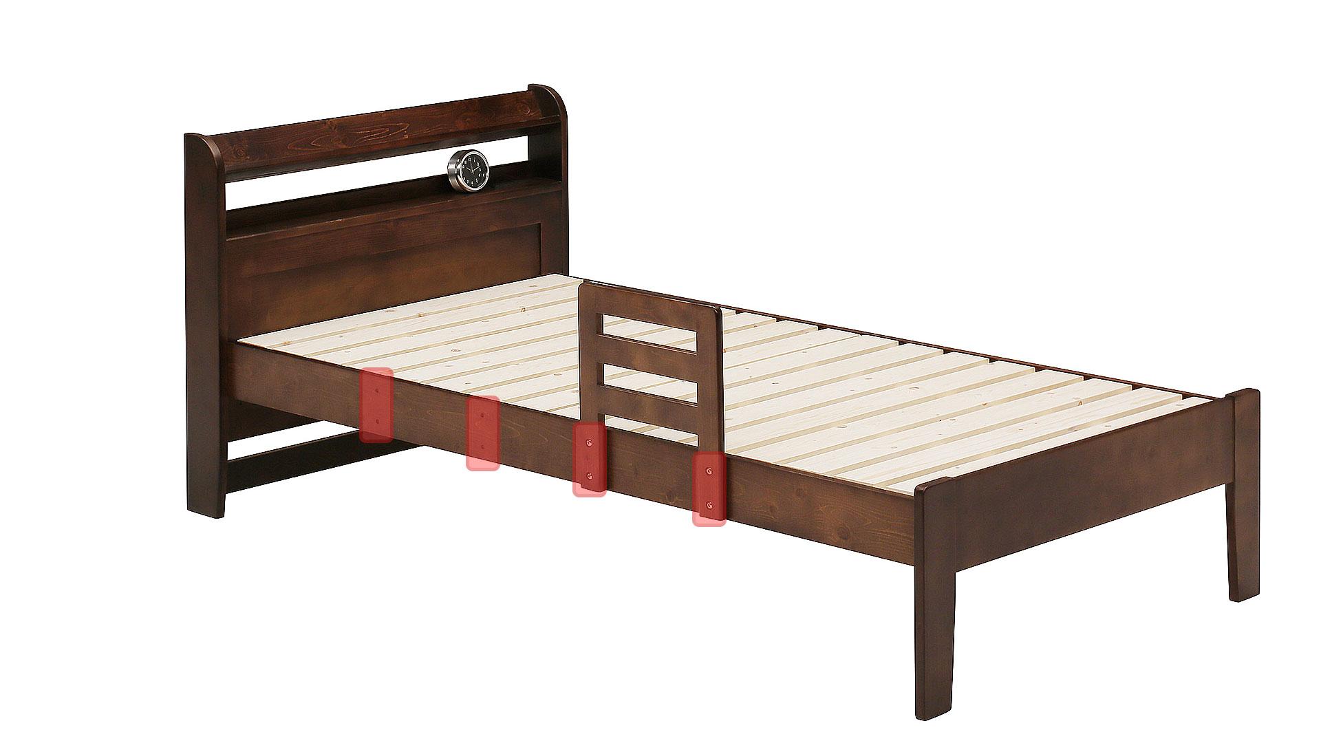 リビンズのベッドフレーム「マーチン」のサイドガードの画像