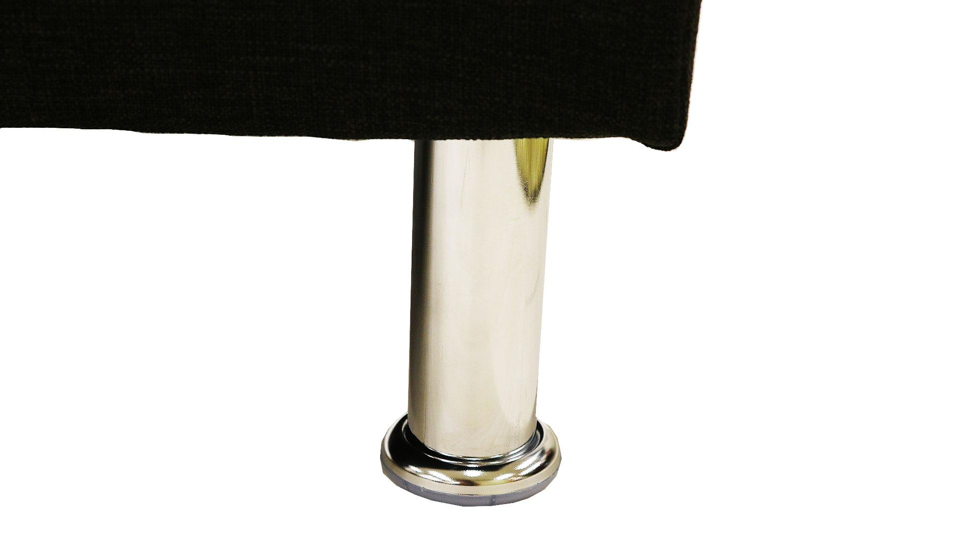 横幅180㎝の黒のソファベッド7.777円の品のスチールメッキの脚の画像