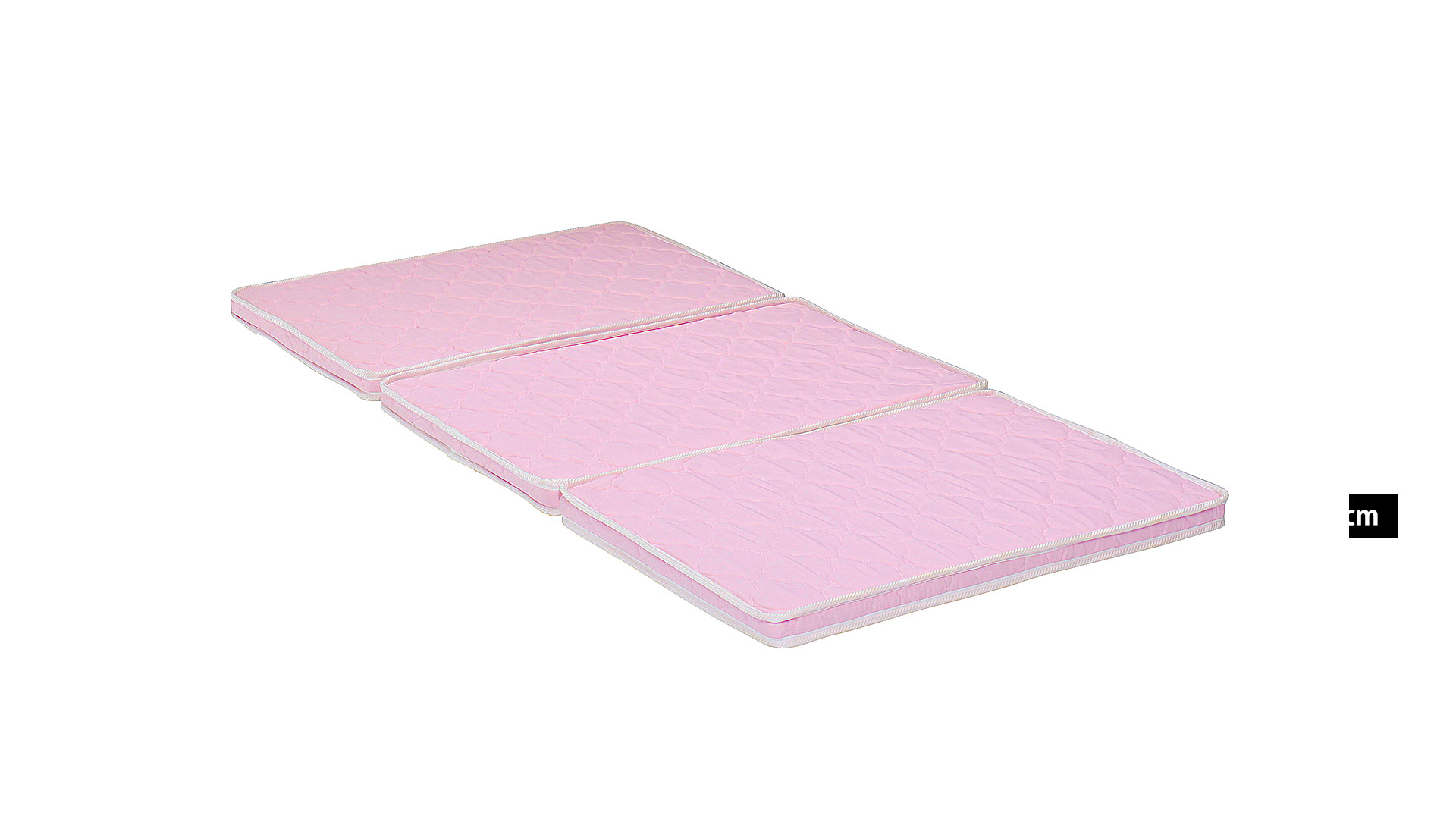 リビンズの三折れパームマットレス「ベルンⅢ」のピンクの画像