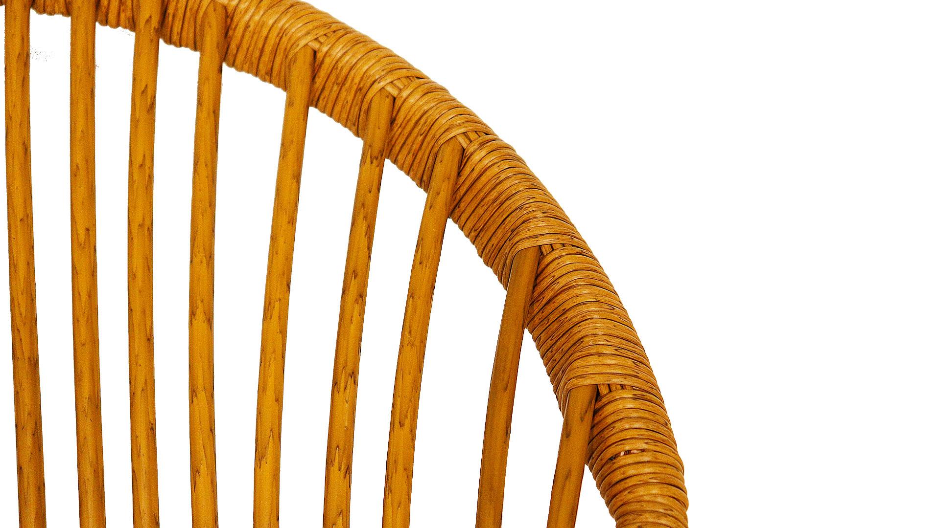 東馬のガーデンファニチャー。オーバルチェア、リゾネアの外用の椅子の素材のアップの画像