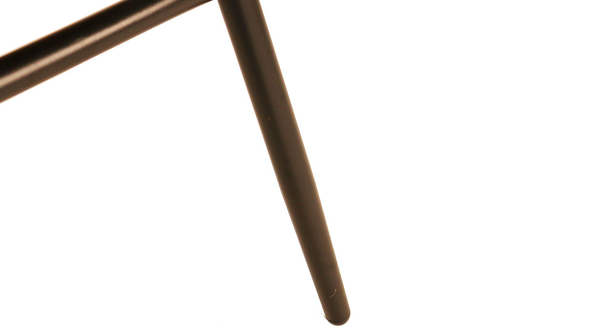 東馬のガーデンファニチャー。オーバルチェア、リゾネアの外用の椅子の脚のアップの画像