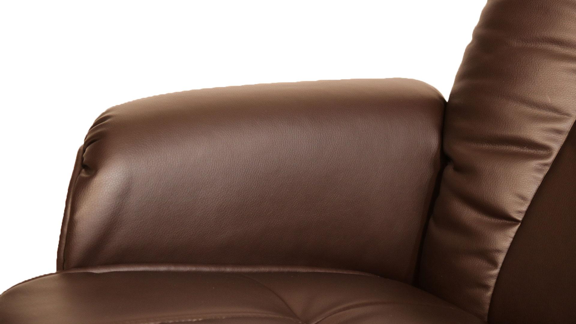 リビンズのリクライニングチェア「フローラ」の肘の部分の画像