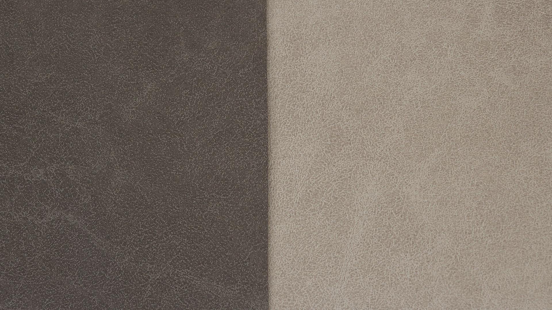 アスクインのベッドソファ、トニーのグレー色とダークブラウン色の生地見本の素材の画像