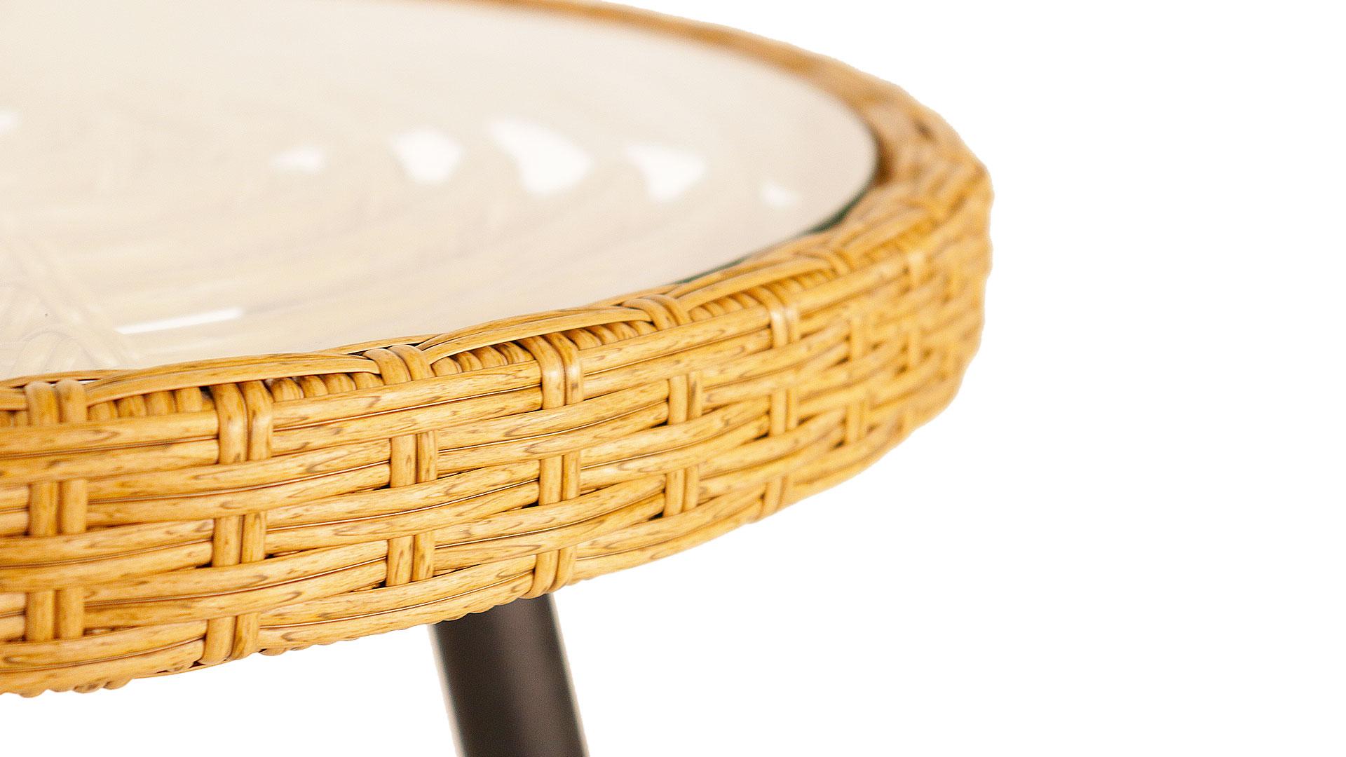 東馬の屋外で使える、外用テーブルのリゾネアの素材のアップ画像