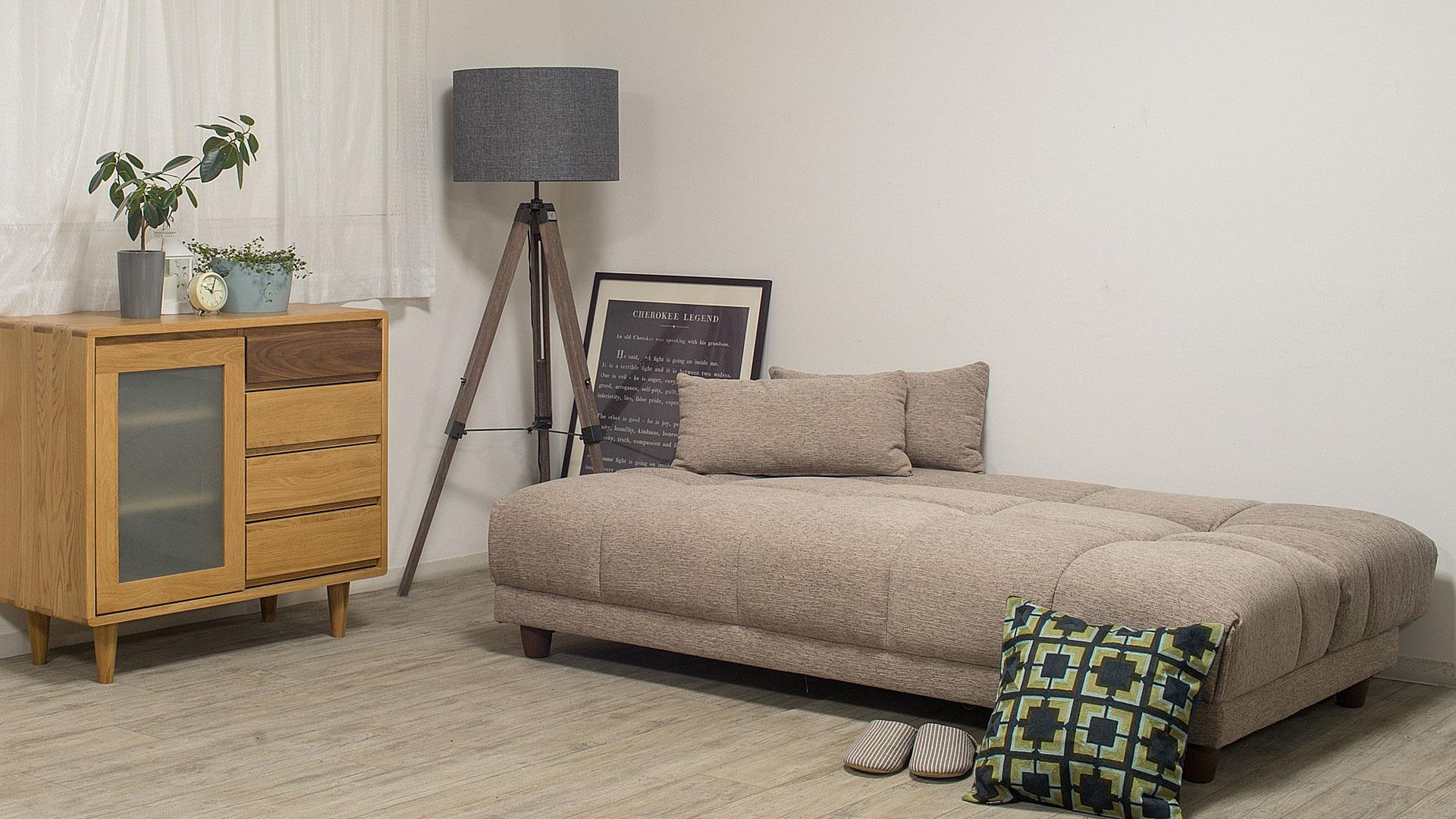 リビンズのソファーベッド「シャロン」のベッドの時の画像