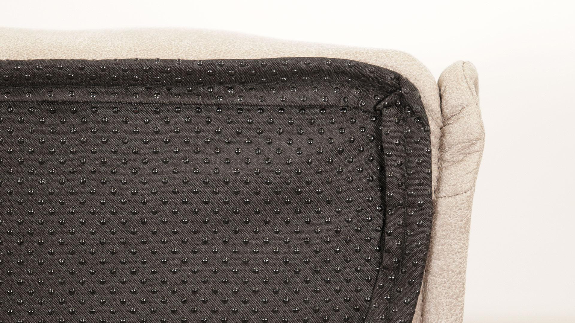 アスクインのベッドソファ、トニーのグレー色のクッション裏の滑り止めの画像