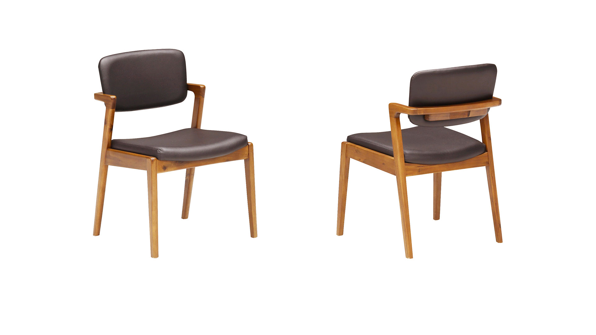 リビンズのダイニングセット「シアトル」の椅子の裏と表の画像