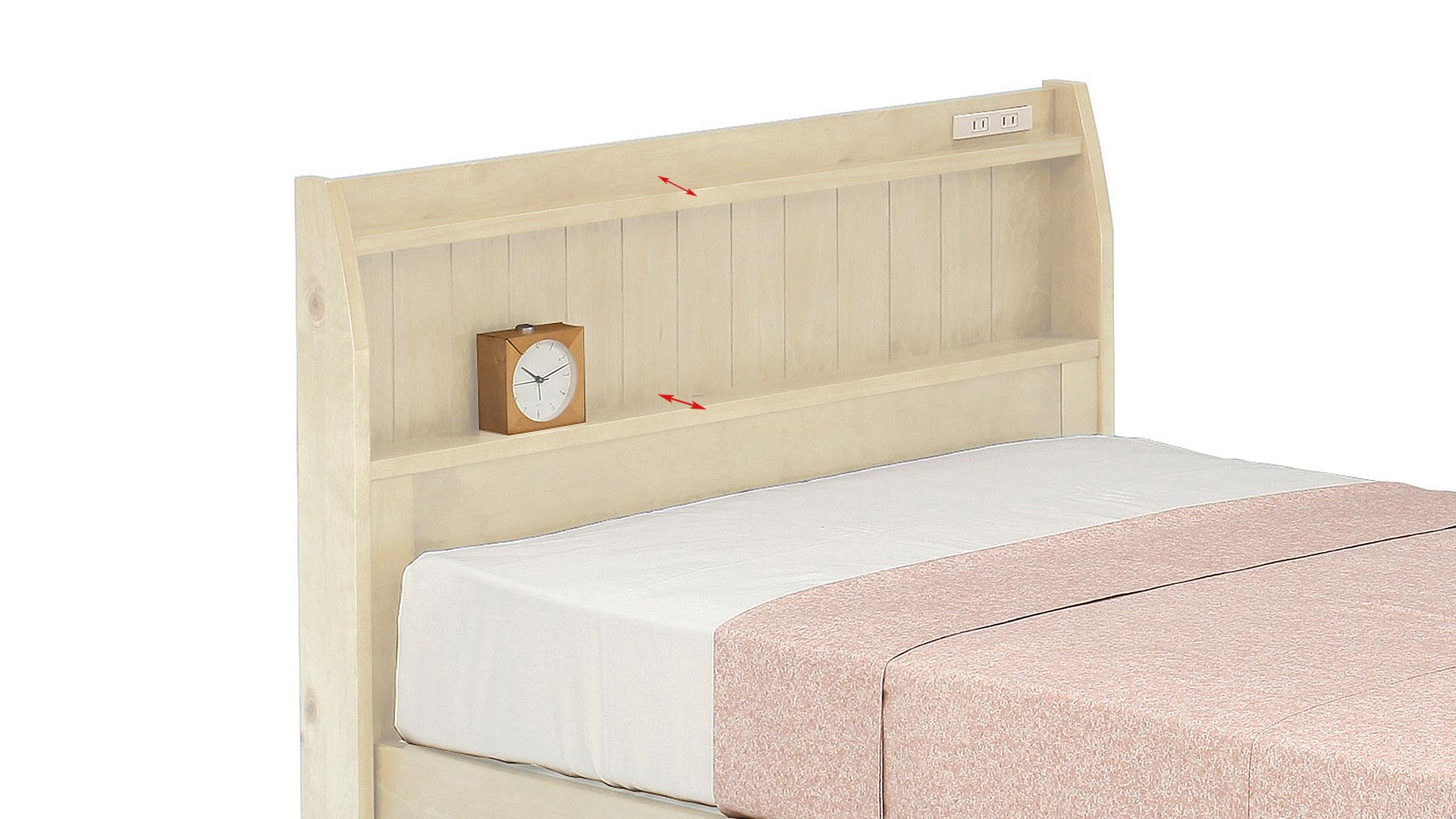 リビンズのベッドフレーム「ブリエ」のヘッドボードの画像