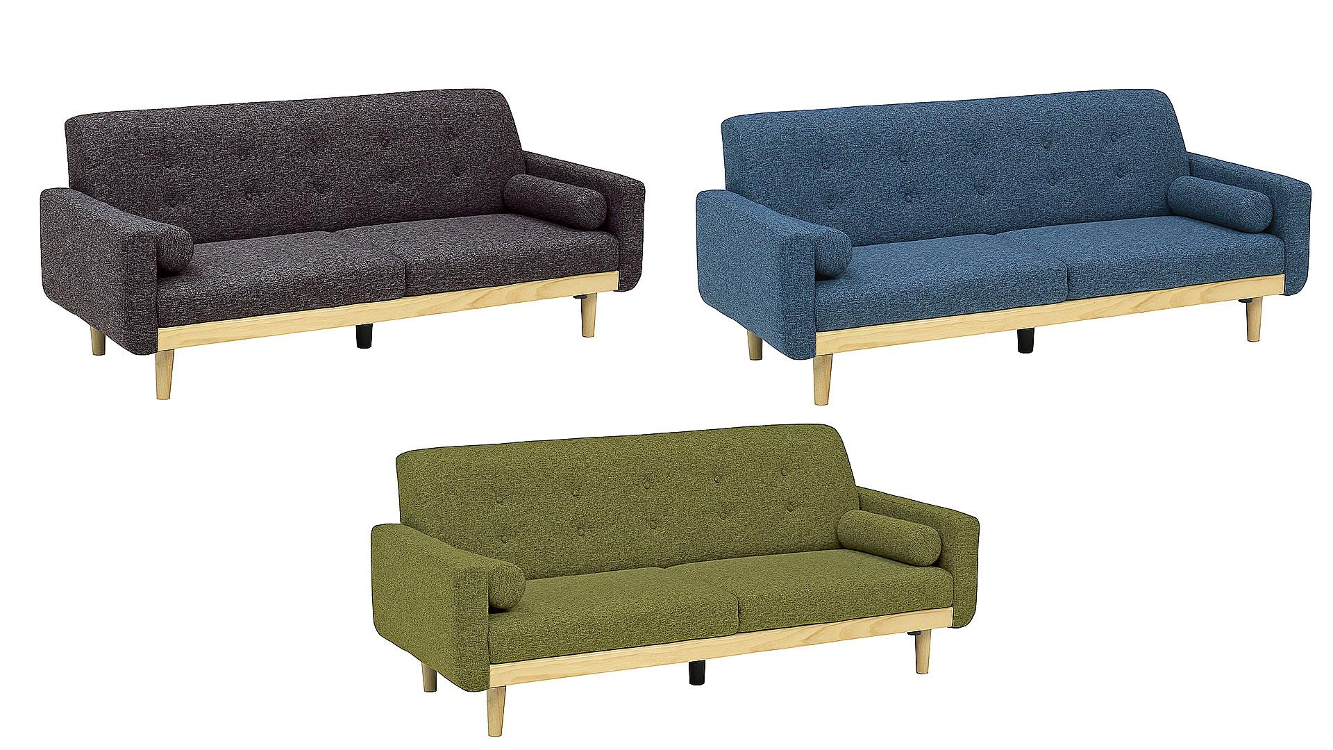 リビンズのソファ「アンジェリカ」の3色の画像