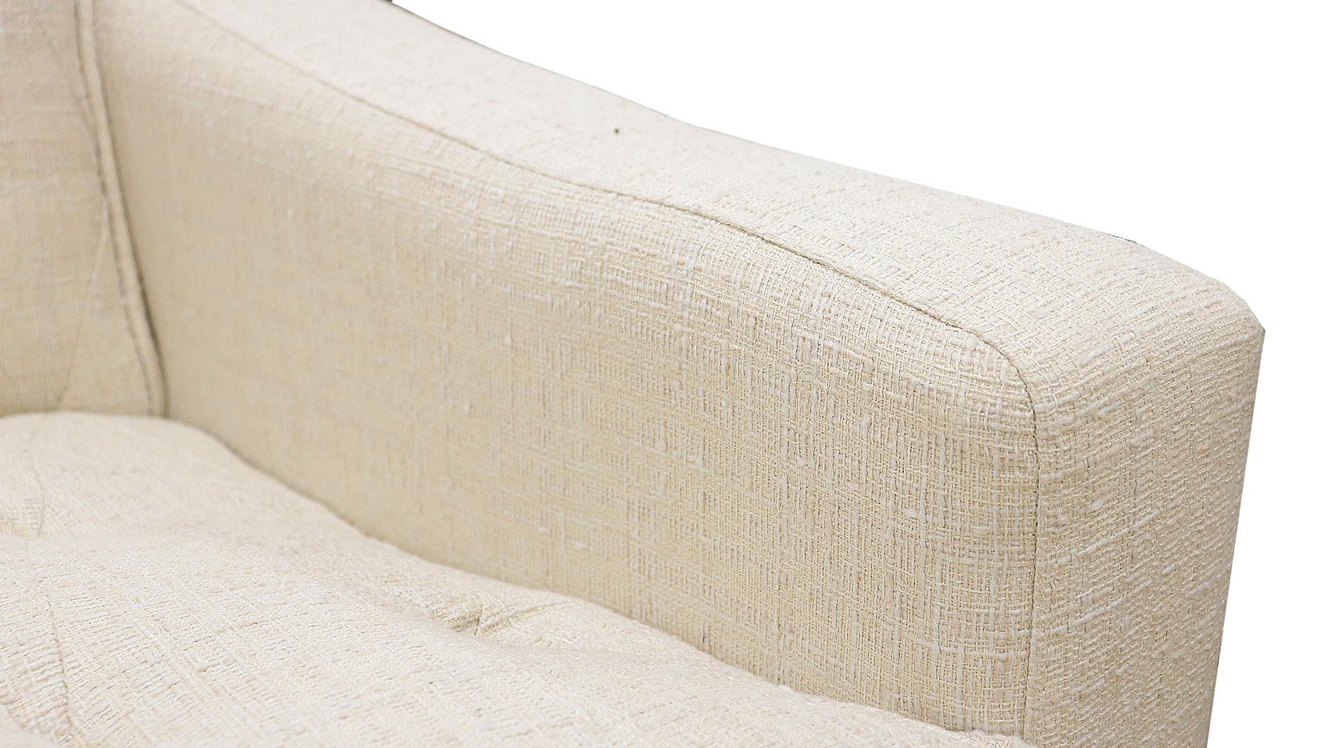 サンコウのカラーバリエーションが豊富な横幅120㎝の小さい二人掛けのソファ、プチの生地のアップの画像