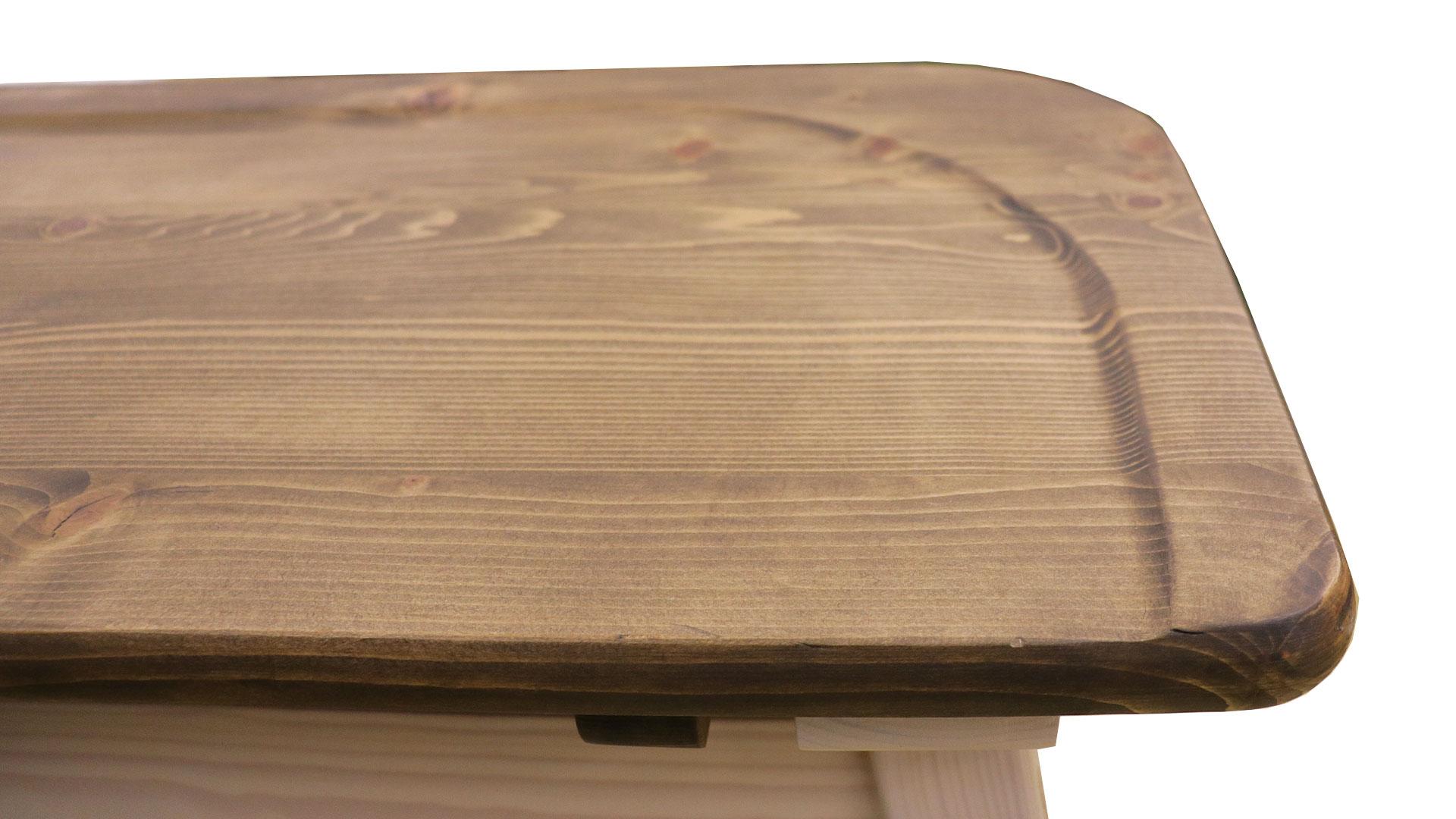 リビンズのダイニングテーブル、プリンのベンチの座面のアップ画像