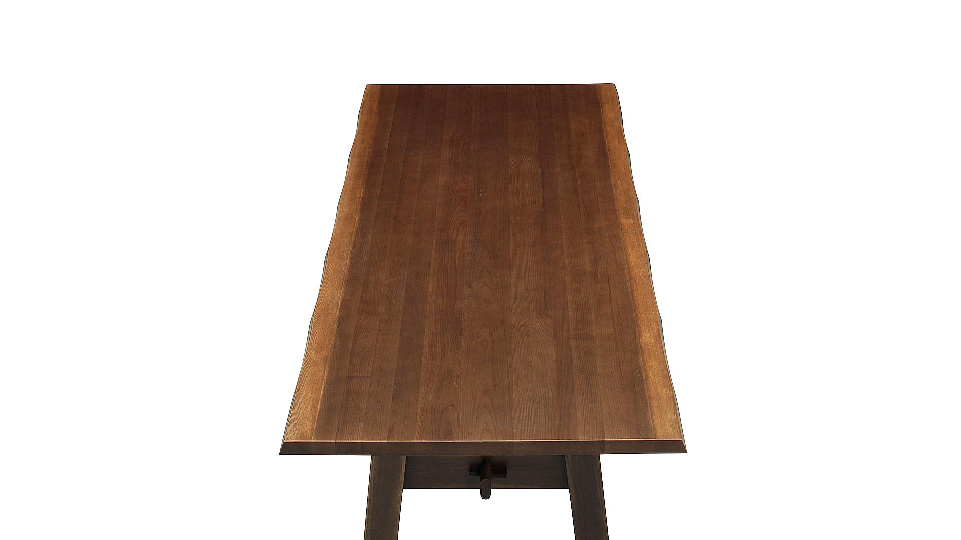 リビンズのダイニングセット「水蓮」のアンティークの200cmのテーブルの画像