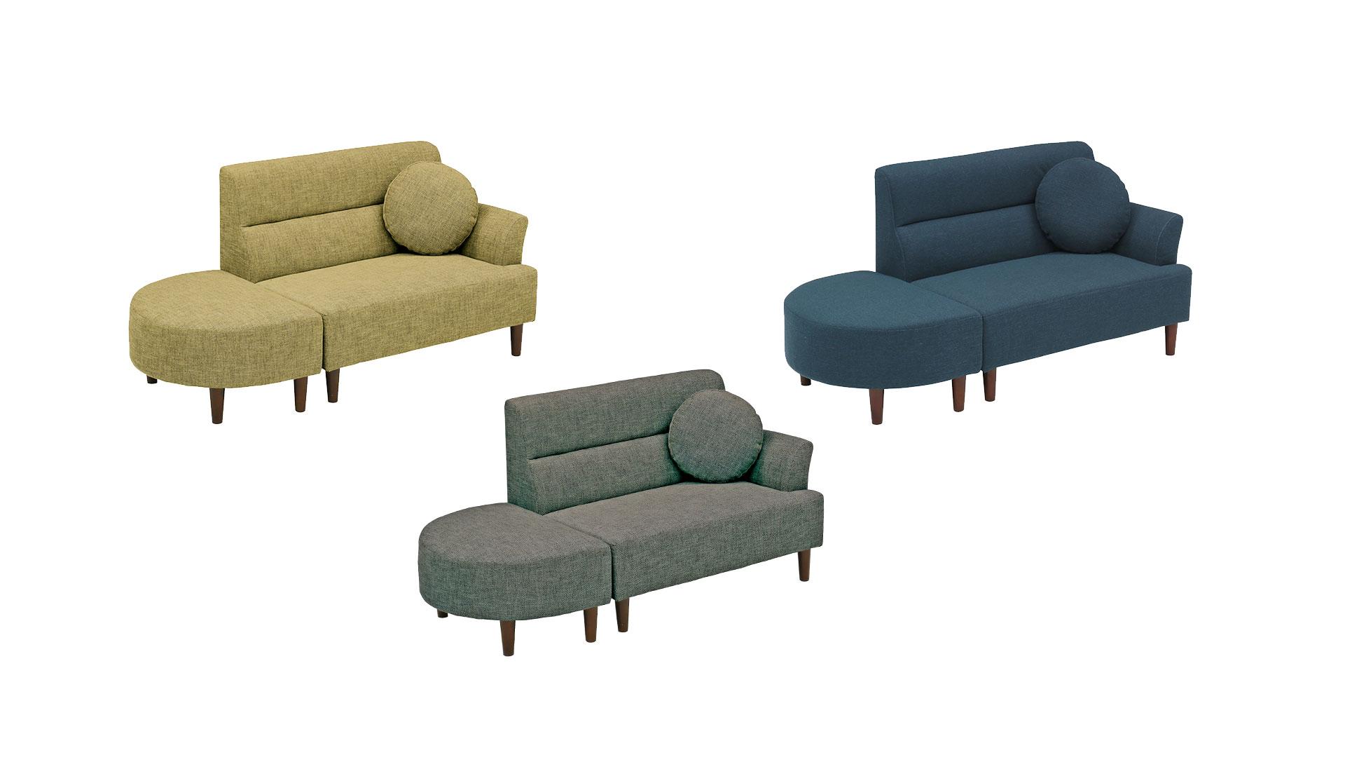 リビンズのソファ「オデッサ」の3色の画像