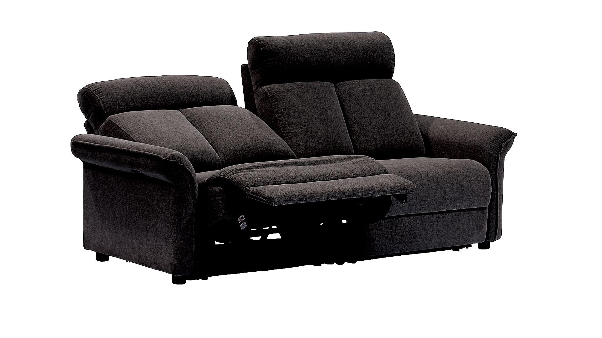 リビンズの電動リクライニングソファ「ベルタ」のブラックの画像