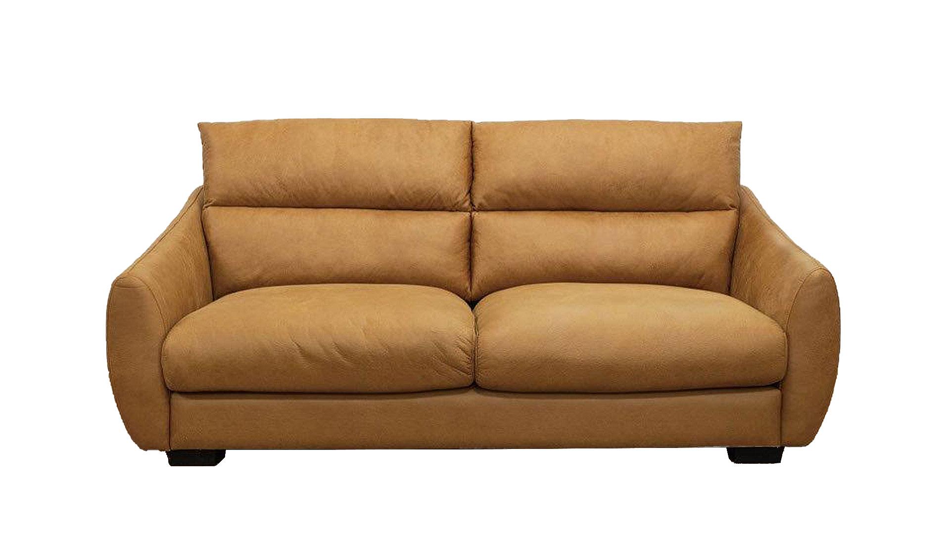 askinのソファ「ルーク」のキャメル色を正面から撮った画像