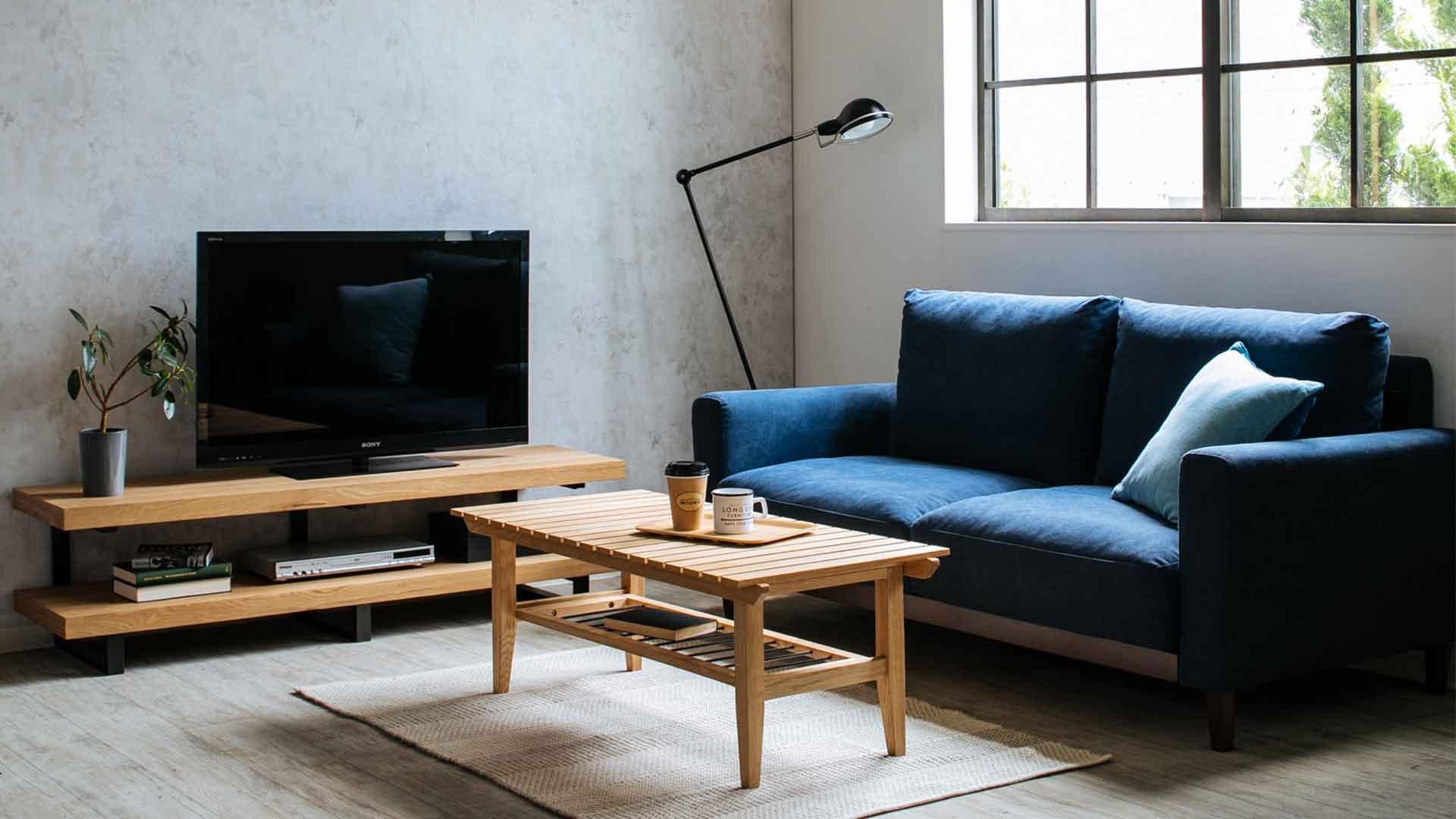 帆布生地のソファのイメージ画像