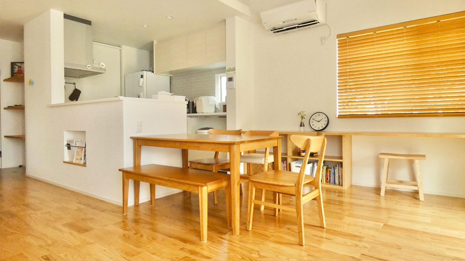 「ONE'S HOME」さんが手掛ける浜松市浜北区小松のY様宅の北欧ベースのナチュラルテイストなお家の内装とマイサカ家具のダイニングセット