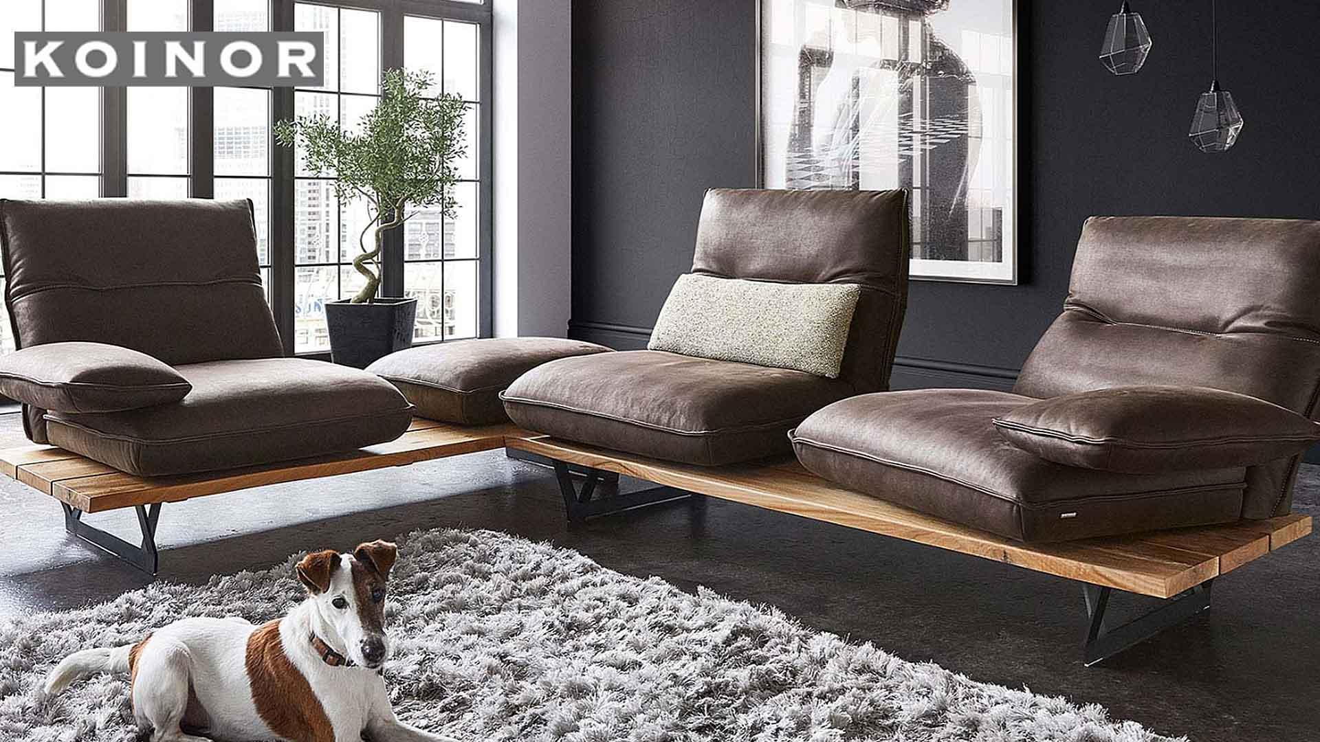 ドイツの高級ブランド家具、コイノールのソファ、マンソンの画像