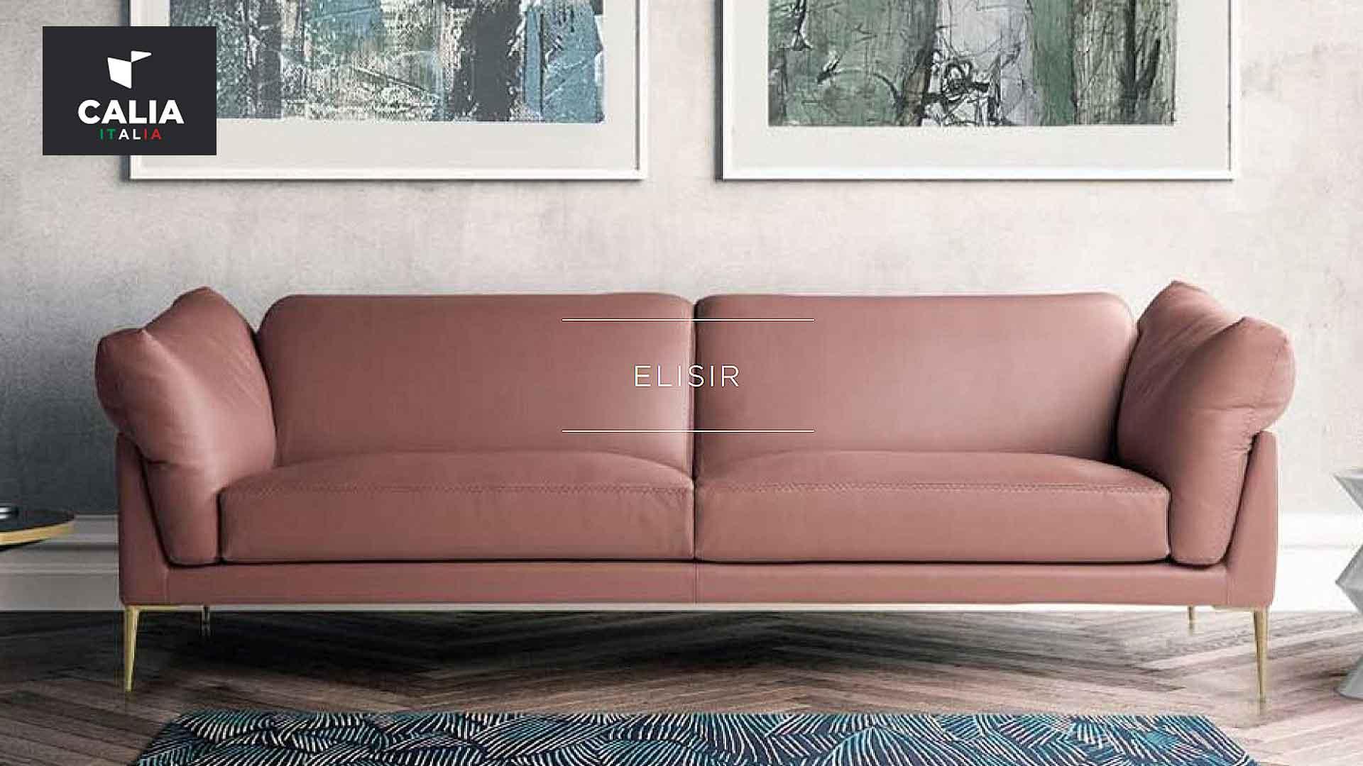 イタリアソファのカリアイタリアの三人掛けソファの画像