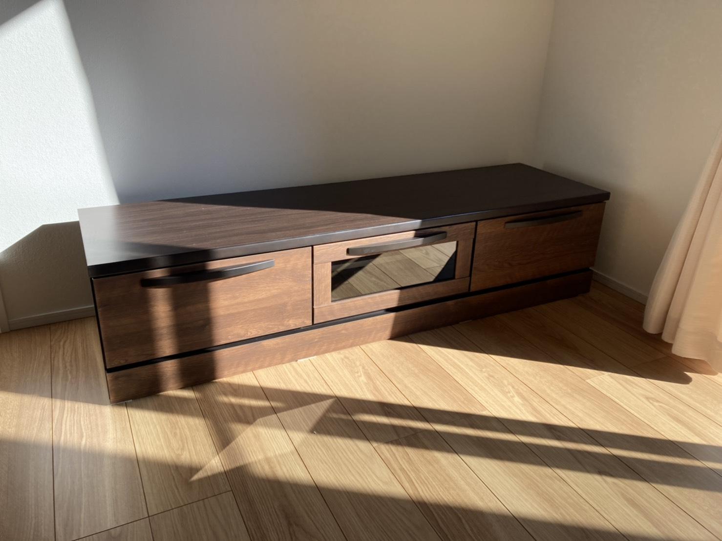 磐田市福田にお住まいのY様宅へお届けした150cm幅のテレビボード