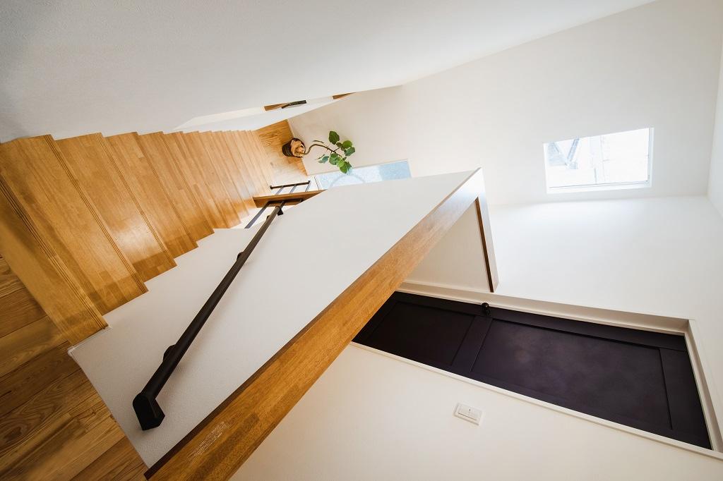 ストリップ階段の上からの眺め