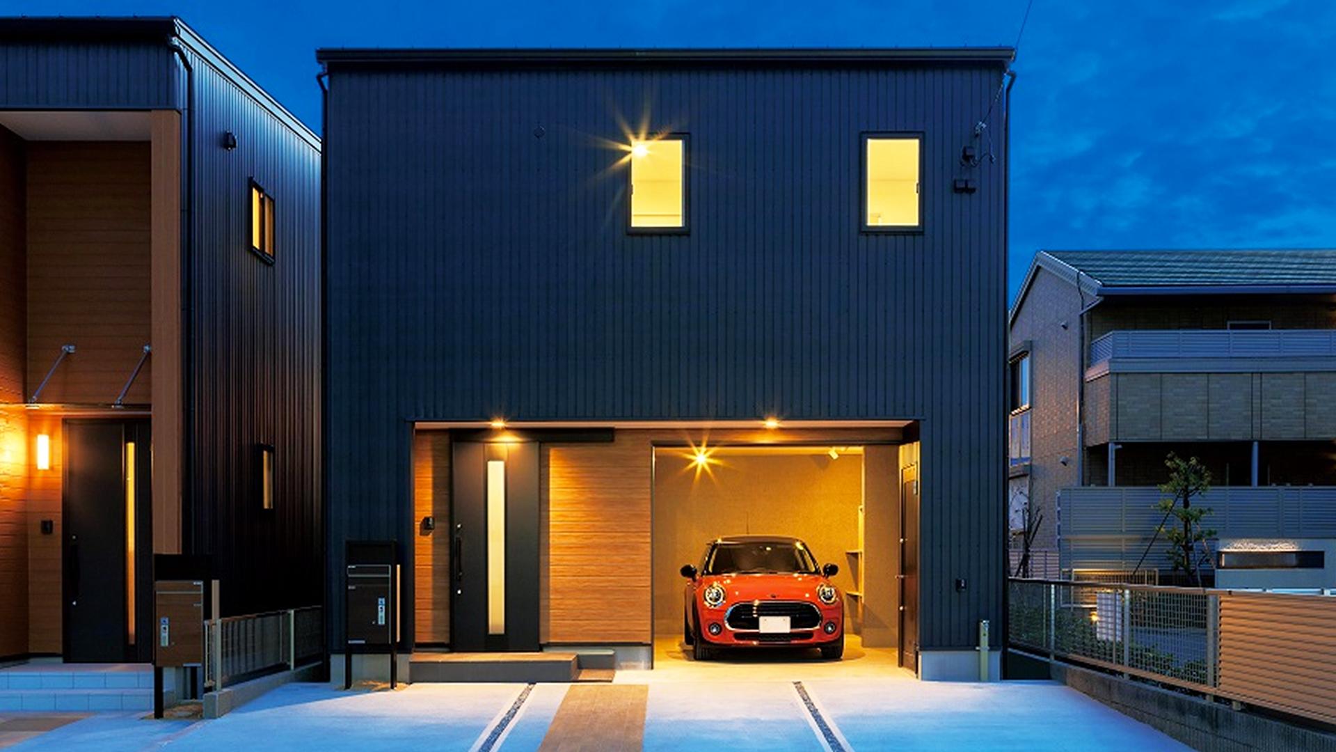 浜松市の不動産会社リングの作るガレージがオシャレな一軒屋の画像