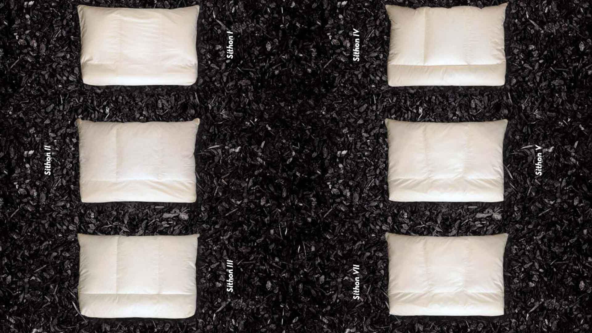 オーガニックのラテックス枕の種類の画像