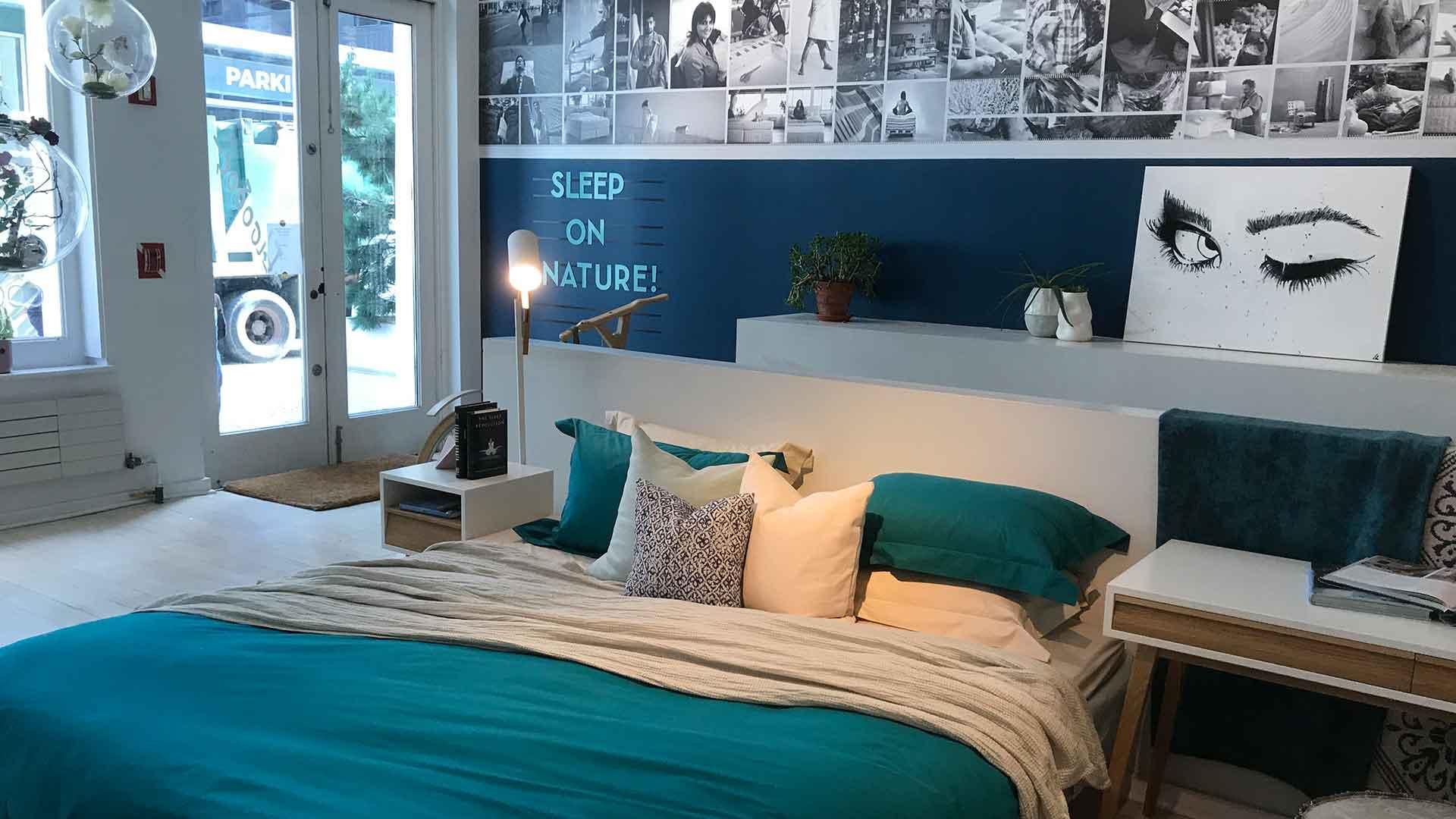 アメリカのニューヨークにあるココマットのベッド