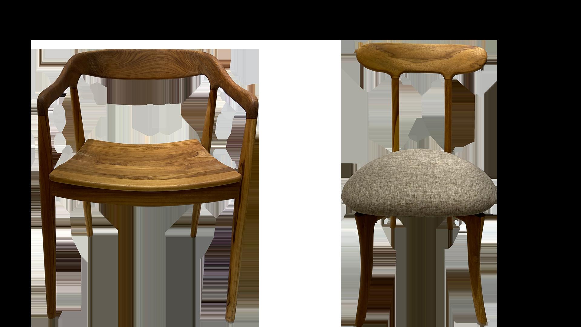 jatiのダイニングチェア。チークウッドを使用した食卓椅子。