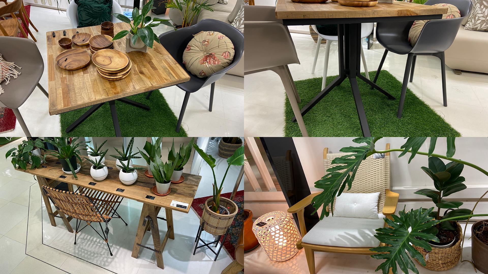 チークを使用したオランダのテーブル。jatiのフォールディングテーブルの画像。