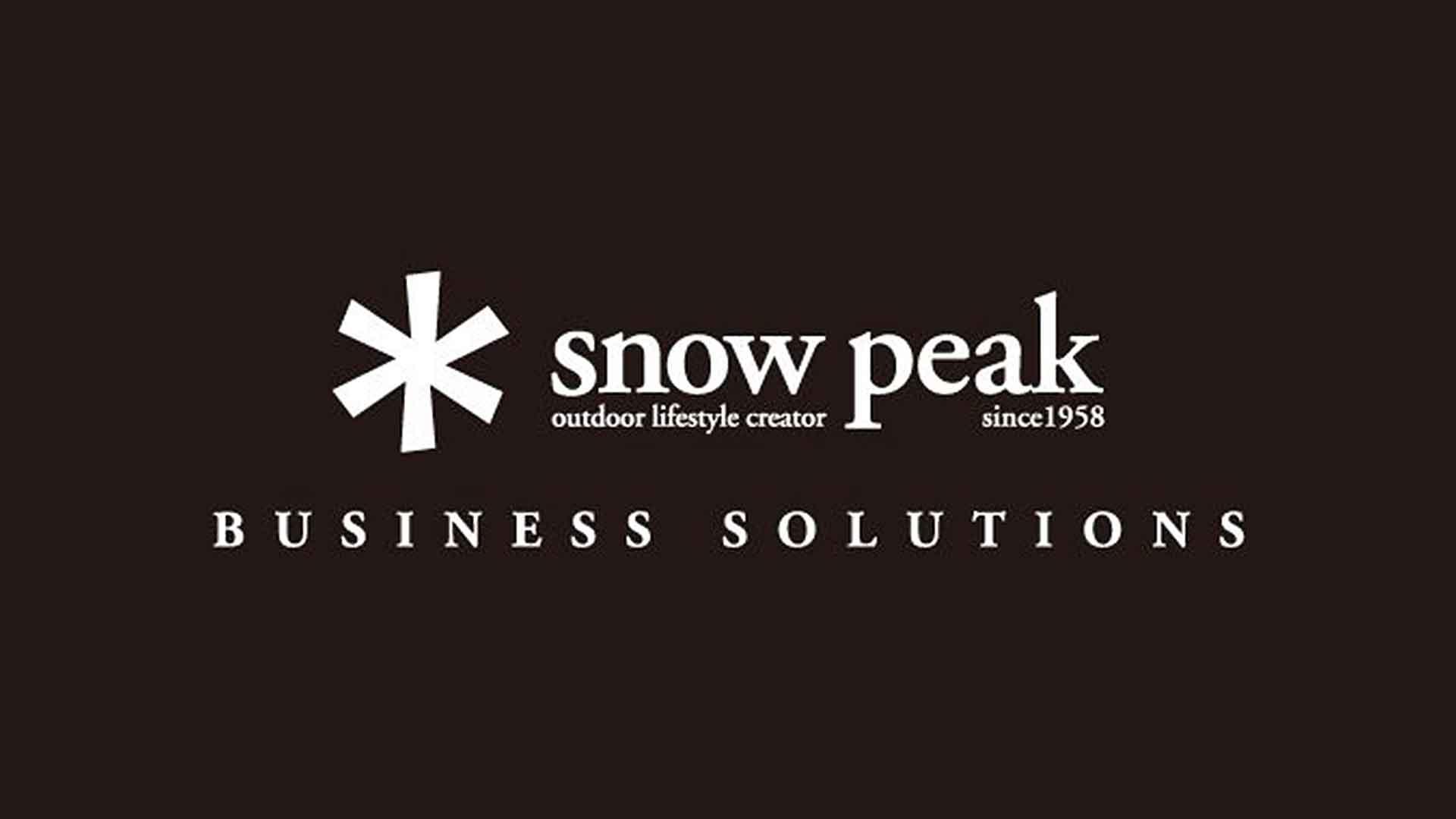snowpeakのサムネイル画像。スノーピークのロゴ画像。