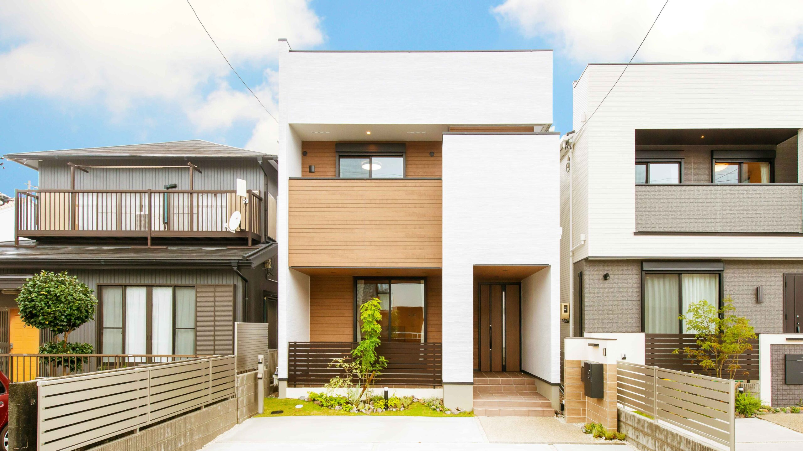 愛知県豊橋市多米西町の新築。外観の画像。