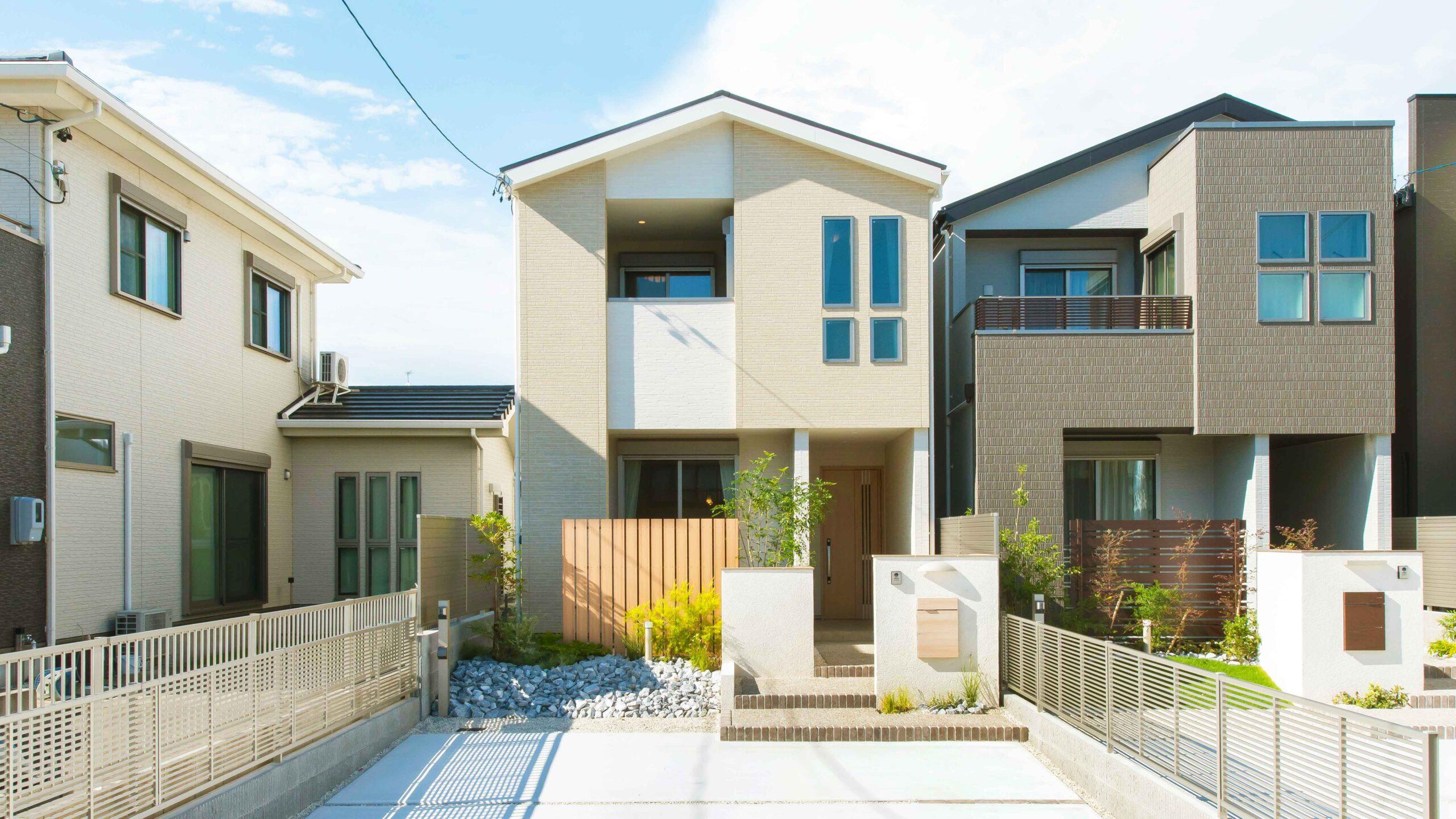 愛知県蒲郡市三谷北通の新築。外観の画像。